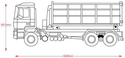 Line drawings hook lift side