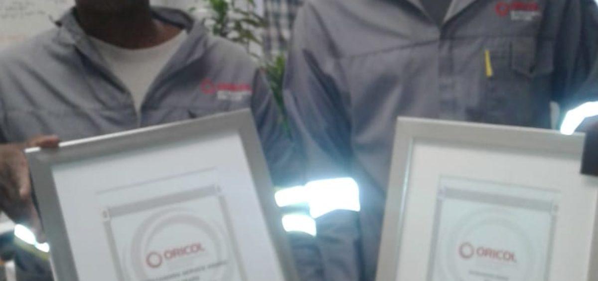 Oricol Environmental Services staff awards